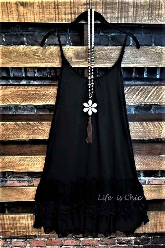 slip dress extender camisole black