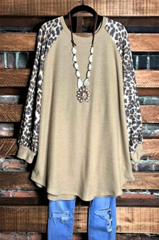 ENCHANTED GARDENS EMBROIDERED VELVET DUSTER LONG TUNIC IN OLIVE GRAY