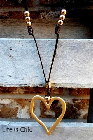 HEART AND SOUL BOHEMIAN NECKLACE