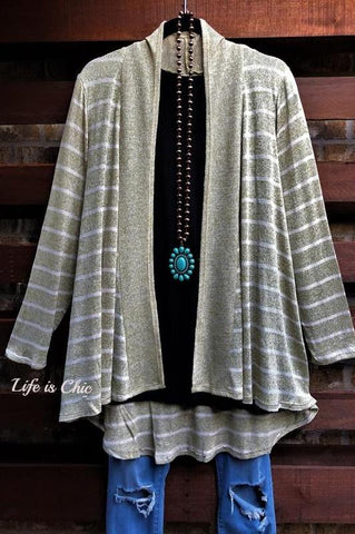 JUST LIKE THAT A CARDIGAN SWEATER TUNIC EGGPLANT