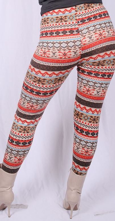 GET COZY WINTER COMFY LEGGINGS MULTI-COLOR  SIZE L - 3X