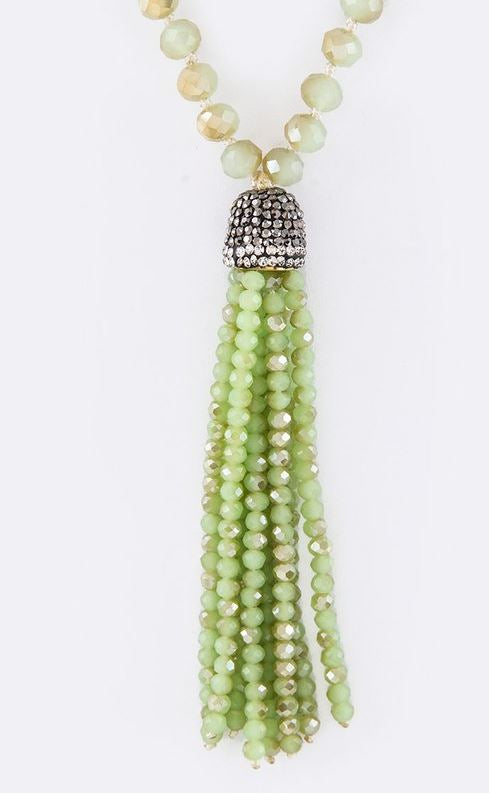 DELICATE BEADED TASSEL IN MINT [product vendor] - Life is Chic Boutique