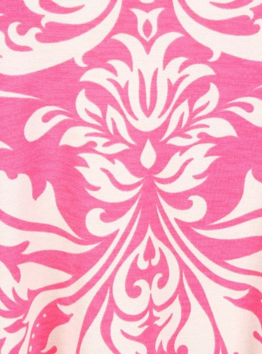 ALWAYS HERE FOR YOU DRESS DAMASK PRINT IN PINK