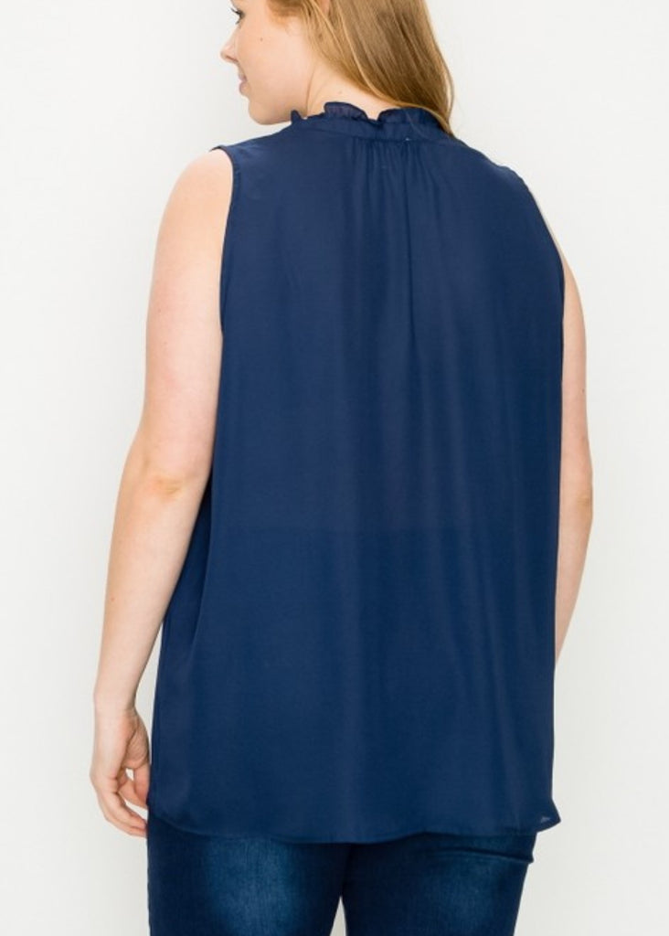 READY FOR THE DAY BLOUSE IN NAVY