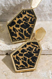INTO THE WILD FAB ANIMAL PRINT EARRINGS