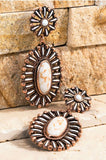 NATURAL STONES VINTAGE INSPIRED DESIGN EARRINGS