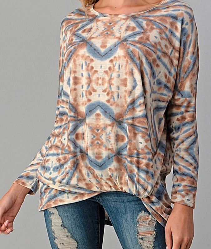 HOLDING OUT HOPE T-TUNIC IN MULTI-COLOR-------------SALE