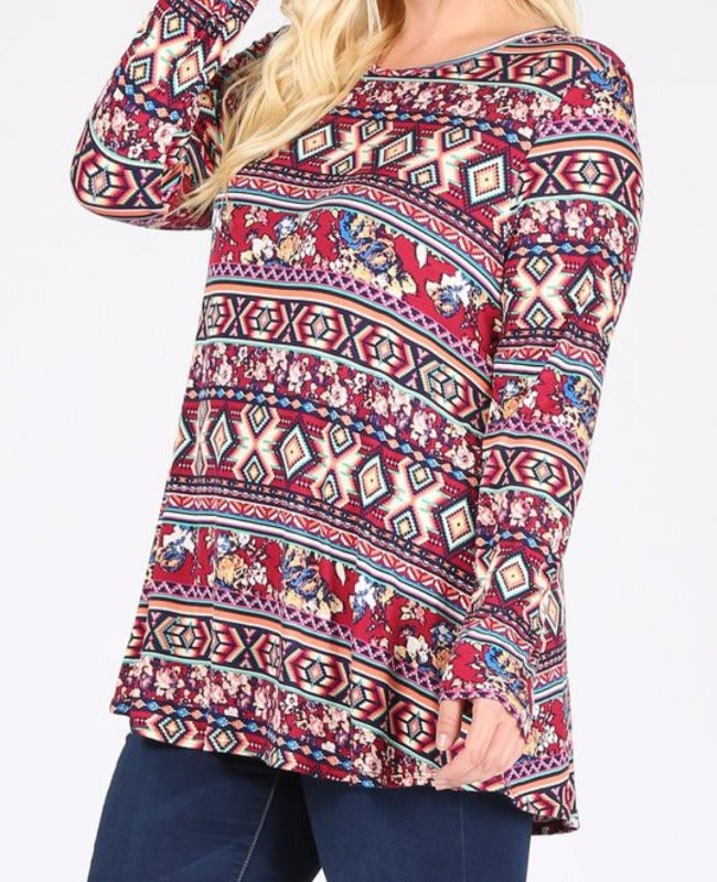 Happy At Heart Top in Multi-Color-------------sale