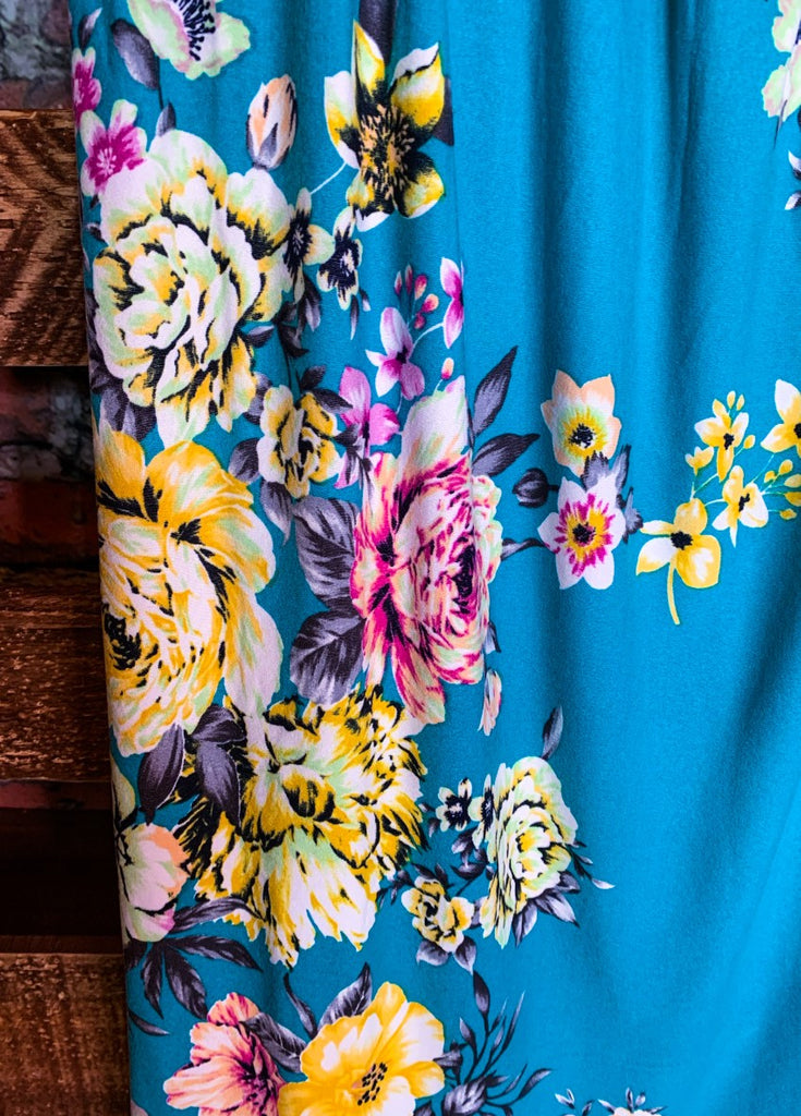 MY DARLING FLORAL DRESS IN MULTI-COLOR