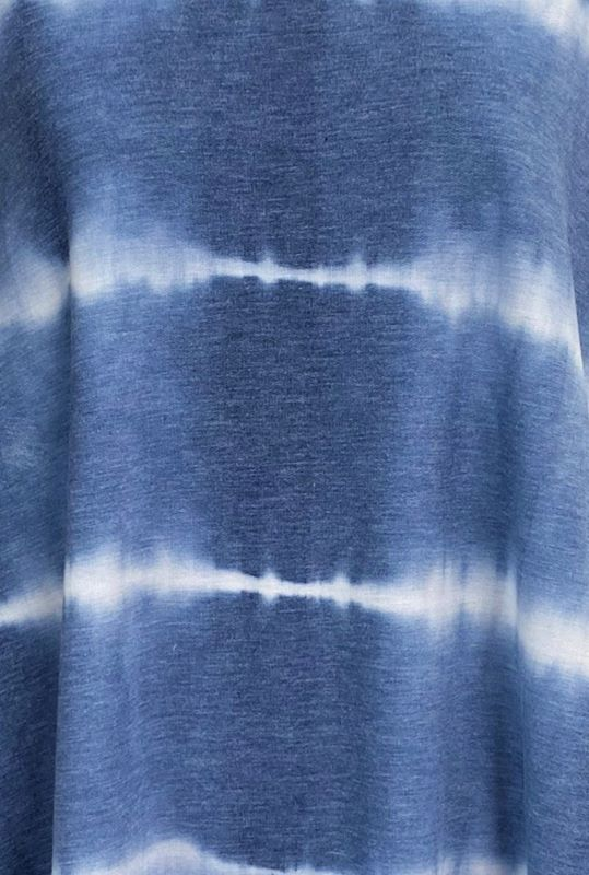 INDIGO MOON TIE DYE TEE TUNIC TOP IN BLUE 1X 2X 3X