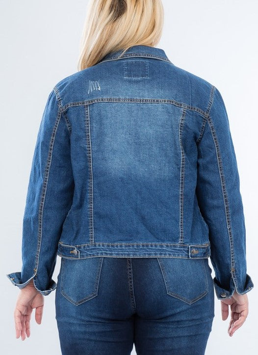MY GO TO STYLE ICON JACKET DENIM IN MEDIUM BLUE