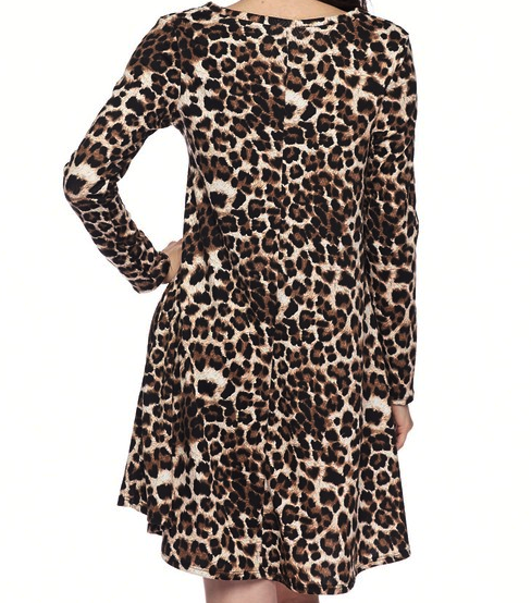 LET'S GET WILD AND FAB JACQUARD PRINT DRESS