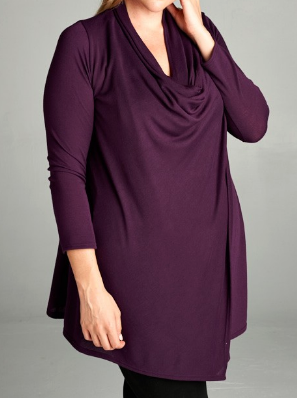 JUST LIKE THAT A CARDIGAN SWEATER - EGGPLANT [product vendor] - Life is Chic Boutique