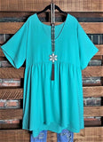 Easy To Love  Comfy Casual Tunic in MINT