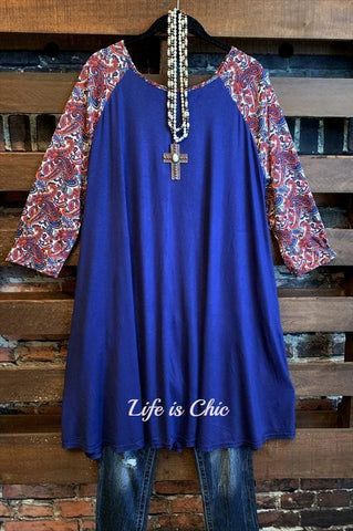 CITY OF LOVE DRESS IN BLUE & WHITE
