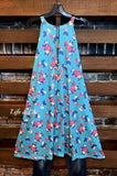 FIELD OF DREAMS FLORAL DRESS IN BLUE MIX