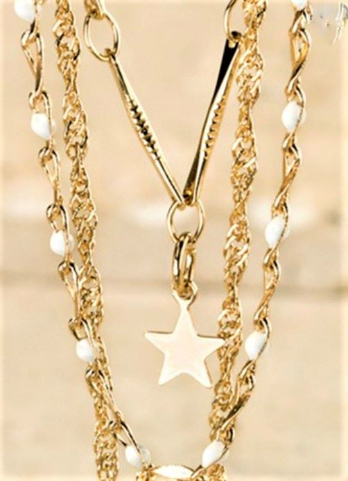 Voyager to the Stars and Moon Layered Necklace