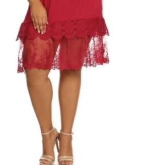 FOREVER MINE LACE LAYERING DRESS EXTENDER SLIP -  BURGUNDY [product vendor] - Life is Chic Boutique
