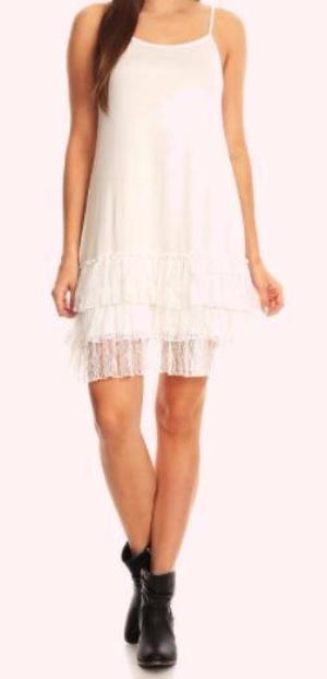 LOVE OF MY LIFE LACE SLIP CAMISOLE DRESS IN OFF-WHITE [product vendor] - Life is Chic Boutique