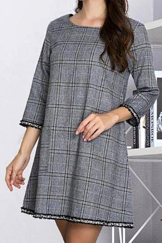 PLAID CLASSIC LIGHTWEIGHT CARDIGAN IN NAVY MIX -sale
