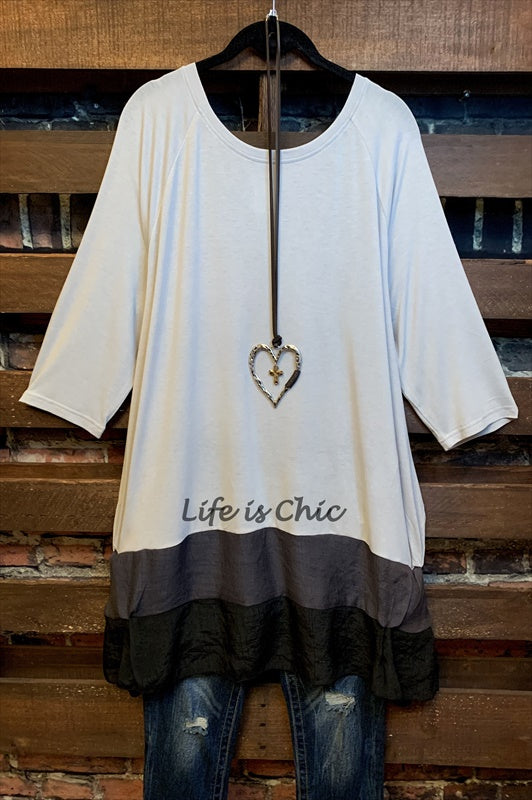 FOREVER MY LOVE STYLISH T-TUNIC IN GRAY