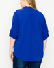 CLASSIC ANYTIME TOP BLOUSE IN ROYAL BLUE