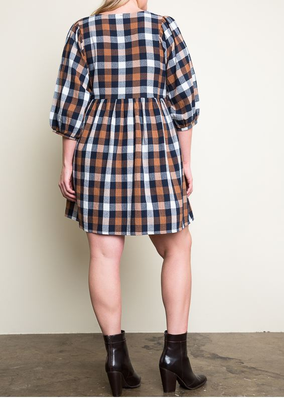 FAB MUSE PLAID DRESS IN LILAC/PLUM MIX - SALE [product vendor] - Life is Chic Boutique