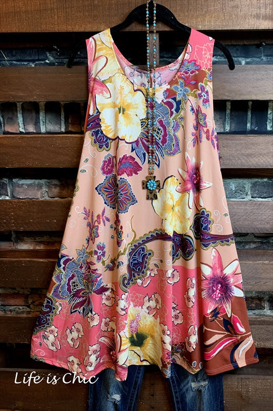 CLOSE TO YOUR HEART FLORAL DRESS IN MULTI-COLOR