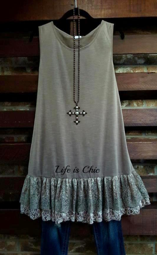 FOREVER MAGIC ROMANCE LACE SLIP EXTENDER LAYERING DRESS IN LATTE