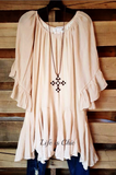 GOOD VIBRATIONS LACE FLORAL FRINGE VEST IN TAUPE [product vendor] - Life is Chic Boutique