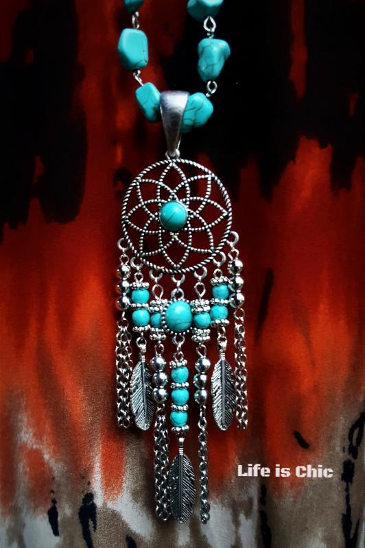 DREAMCATCHER MYSTIC NECKLACE [product vendor] - Life is Chic Boutique
