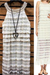 LOVE IS IN THE AIR LACE & CROCHET MAXI DRESS IN BEIGE - SALE [product vendor] - Life is Chic Boutique