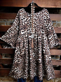 MY HEART IS YOURS LEOPARD DRESS SWING LEOPARD PATCHED POCKETS