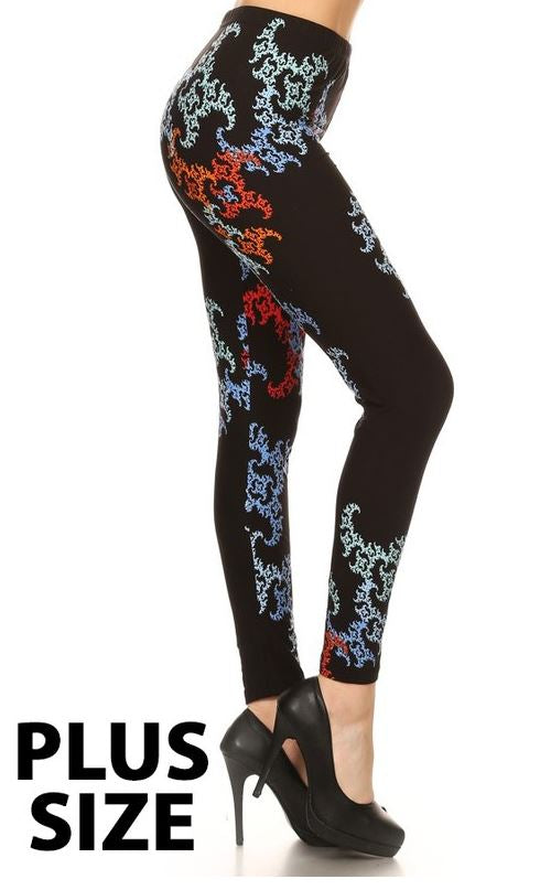 EASY GOES IT SOFT LEGGINGS ABSTRACT PRINTED MULTI-COLOR [product vendor] - Life is Chic Boutique