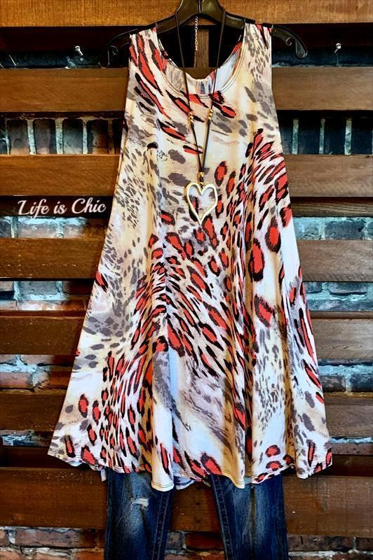 A LITTLE WILD AT HEART DRESS IN TAUPE MIX