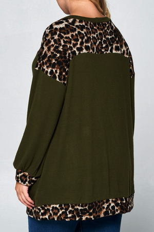 KEEP IT COZY SWEATER TUNIC IN OLIVE