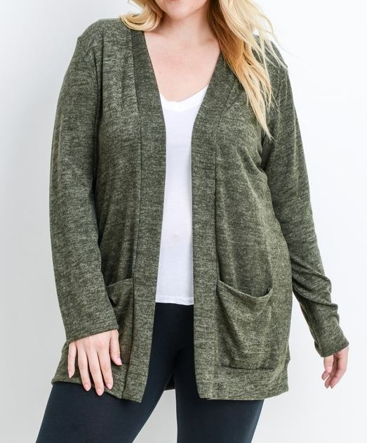 SO SOFT COMFY OVERSIZED CARDIGAN WITH PATCHED POCKETS IN IVORY - sale