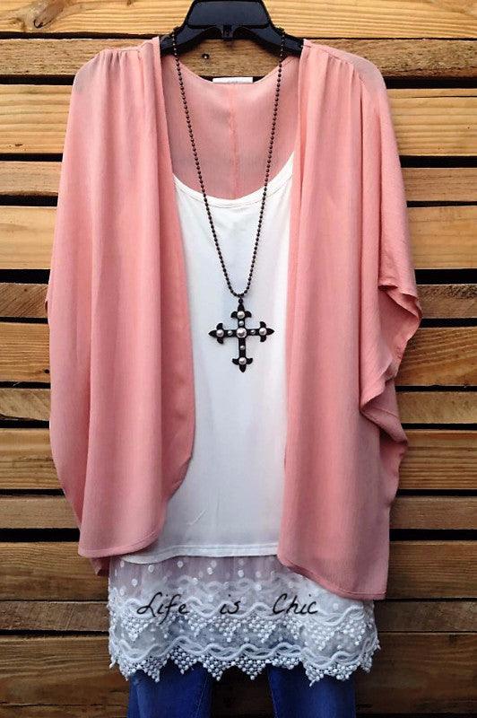There She Goes Kimono, Pink [product vendor] - Life is Chic Boutique