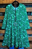 camouflage print dress green plus size