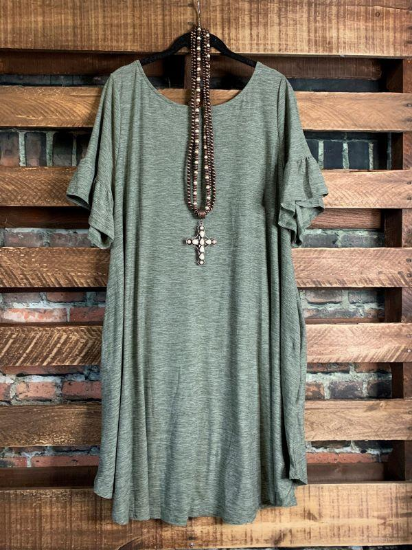 dress olive mix plus-size
