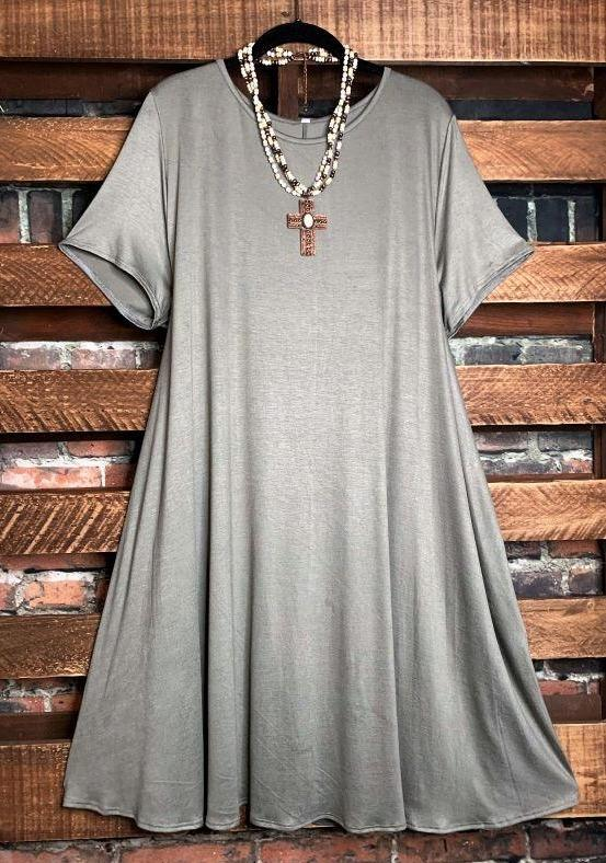dress olive plus size