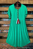 dress plus size kelly green
