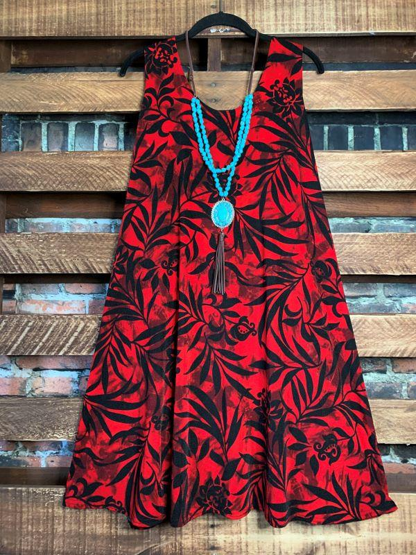 floral print dress red plus size