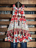 floral sleeveless dress multi color plus size