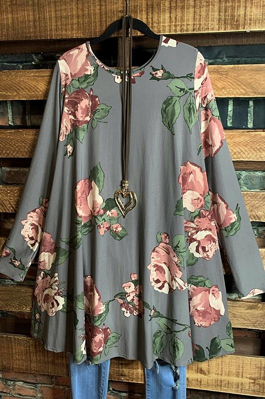 floral sweater dress gray plus size