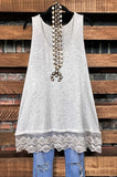 lace  slip dress extender oatmeal