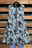 sleeveless dress charcoal