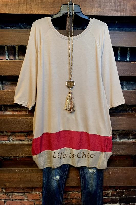 t-tunic burgundy taupe