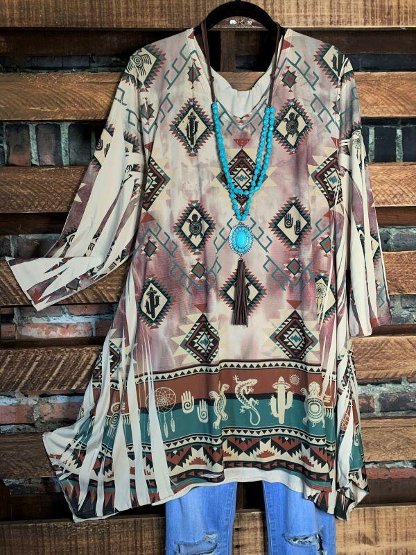 tunic beige brown boutique