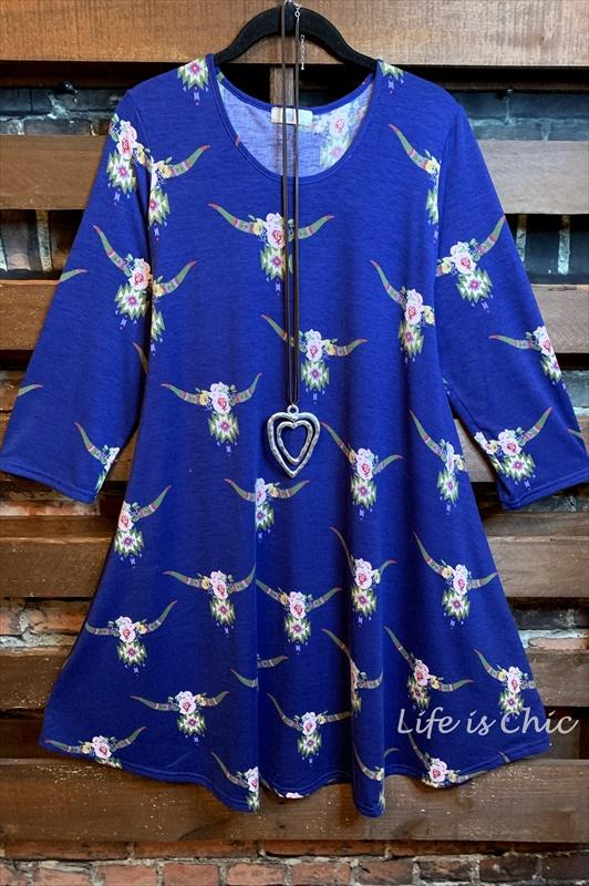 flowers dress royal blue plus size regular size